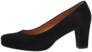 Gabor 02.190.47 black suede pump for women