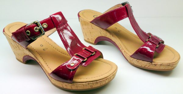 Gabor slippers 02.741.93 red patent leather