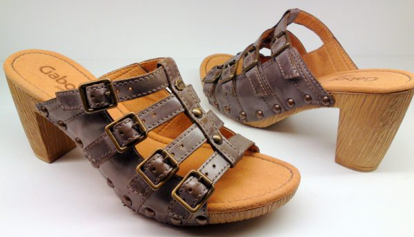 Gabor slippers 03.801.73 dark grey leather