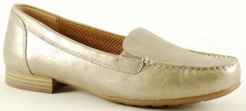 Gabor moccasin 22.680.62 metallic gold leather