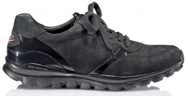 Gabor rollingsoft sensitive 36.968.86 dark blue leather nubuck walking shoes for women