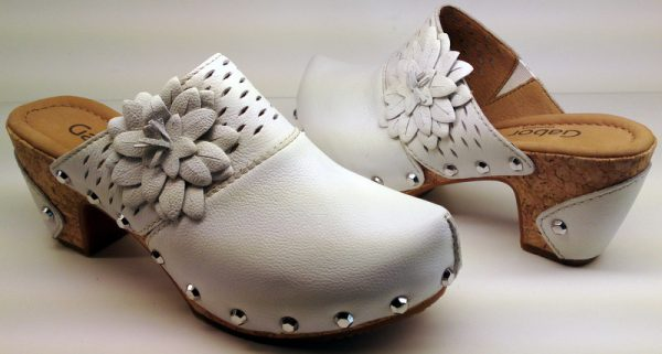 Gabor clog sandals 42.703.50 white leather