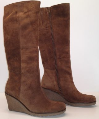 Gabor boots 51.689.14 cognac brown suede   WEDGES