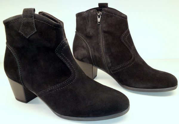 Gabor ankle boots 72.731.87 black suede