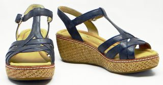 Gabor sandals 82.702.26 river blue leather  WEDGES