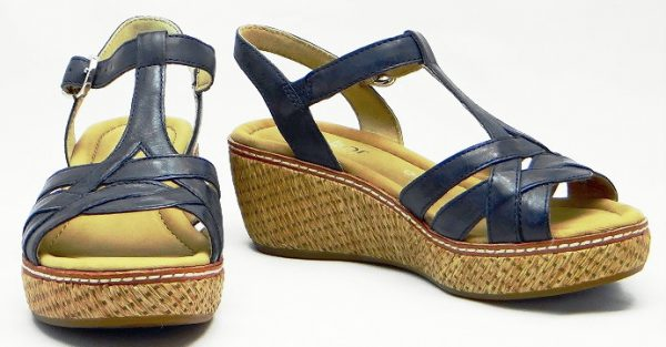 Gabor sandals 82.702.26 river blue leather  WEDGES