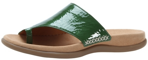 Gabor slippers 83.700.91 green patent leather