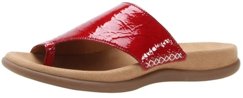 Gabor slippers 83.700.95 red patent leather