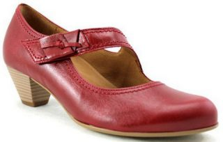 Gabor pumps 86.147.28 cherry red leather     WIDE FIT