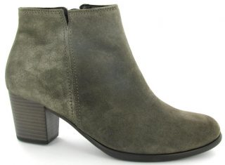 Gabor 91.672.63 gray suede ankle boot for women