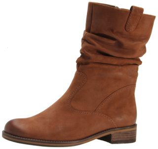 Gabor 72.792.23 nut brown nubuck medium long boot for women