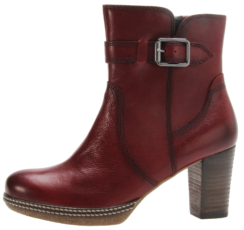 Gabor ankle boots 32.874.28 dark red leather
