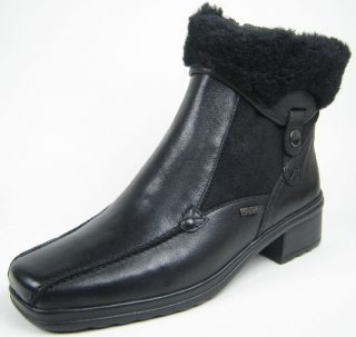 Gabor ankle boots 56.701.57 black leather  WARM LINED  EXTRA WIDE  WATERPROOF