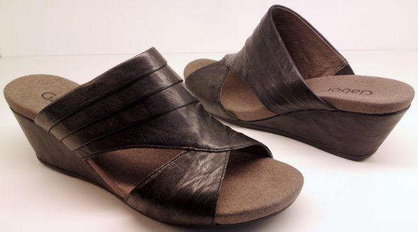 Gabor sandals 45.714.57 black leather        WEDGES