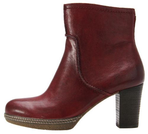 Gabor ankle boots 72.870.38 dark red leather