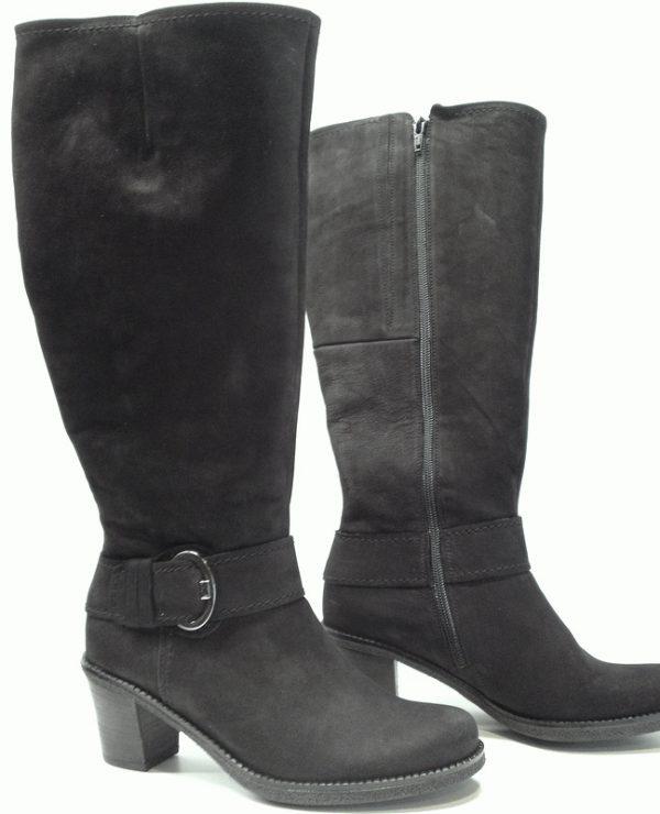Gabor boots 32.786.47 black nubuck WIDE LEG