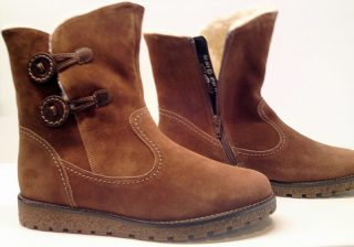 Gabor ankle boots 36.503.48 brandy suede wool lined