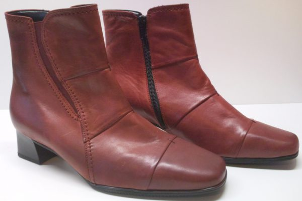 Gabor ankle boots 96.624.30 rubin leather         EXTRA-WIDE