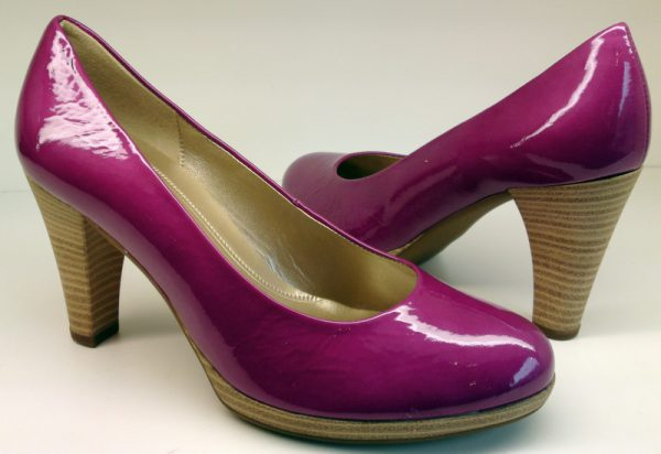 Gabor pumps 65.220.84 fuchsia pink patent leather HIGH HEEL