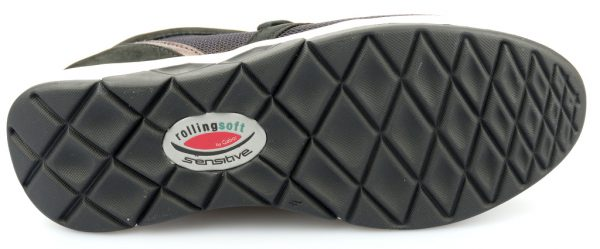 Gabor rollingsoft sensitive 56.995.68 black bronze nubuck mesh