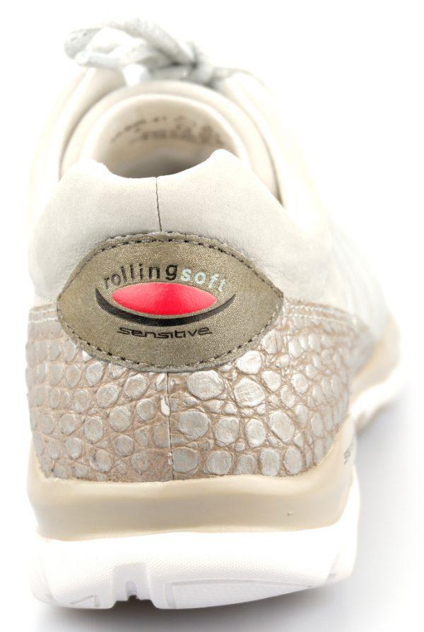 Gabor rollingsoft sensitive 46.960.41 light grey leather nubuck