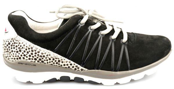 Gabor rollingsoft sensitive 46.960.47 black leather nubuck