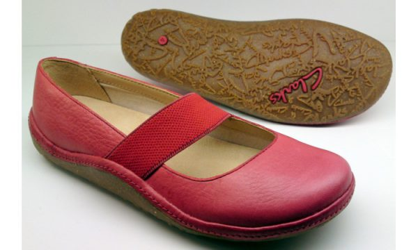 Clarks flat slip-on EDGE HOLLYWOOD red leather