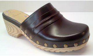 Clarks clog slippers GWEYNETH CILLA black leather