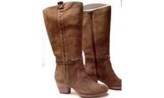 Clarks boots MELISSA TARA walnut brown suede WIDE LEG