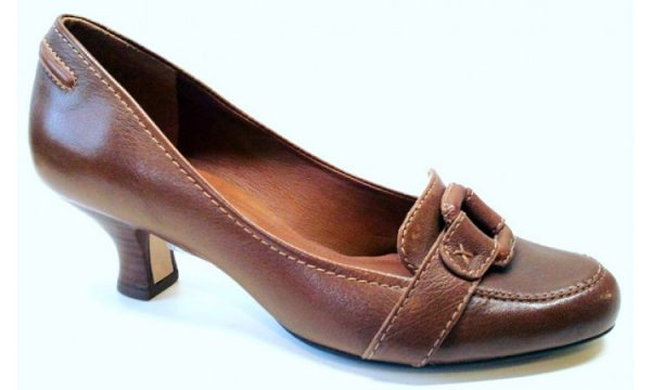Clarks pumps APPLE WHITE brown leather