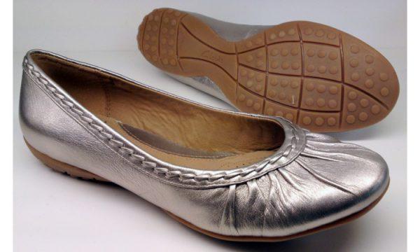 Clarks ballerina pumps ARIZONA SANDS 2 metallic silver leather