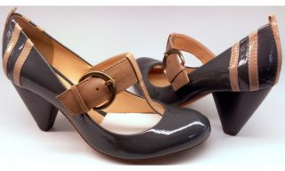 Clarks pumps BAND WAGON grey patent leather