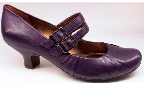 Clarks pumps BLACK ASH purple leather