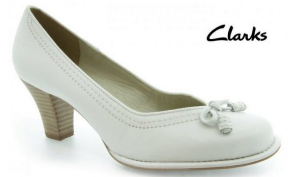 Clarks pumps BOMBAY LIGHTS white leather
