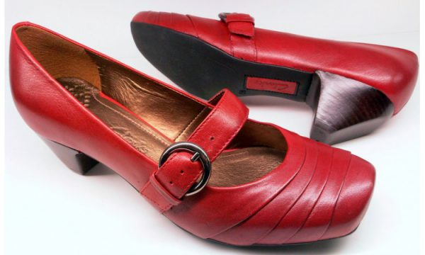 Clarks pumps BONE MEAL claret red leather