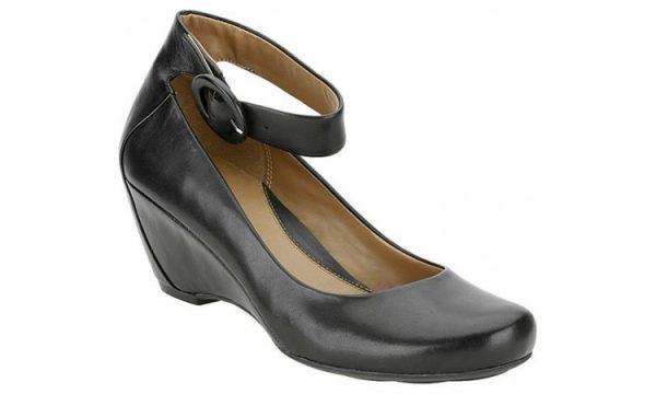 Clarks pumps CAPRICORN MOON black leather WEDGES