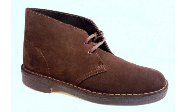 Clarks Originals ankle boots DESERT BOOT brown suede women