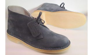 Clarks Originals ankle boots DESERT BOOT denim blue suede WOMEN