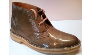 Clarks Originals ankle boots DESERT BOOT wolf patent leather