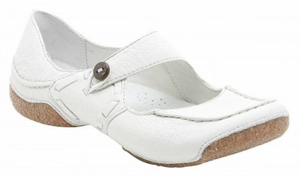 Clarks flat slip-on FUNKY DOO white leather