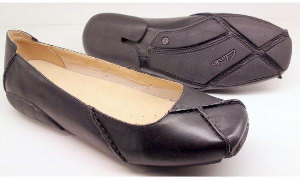 Clarks flat slip-on GEM DELUX black leather