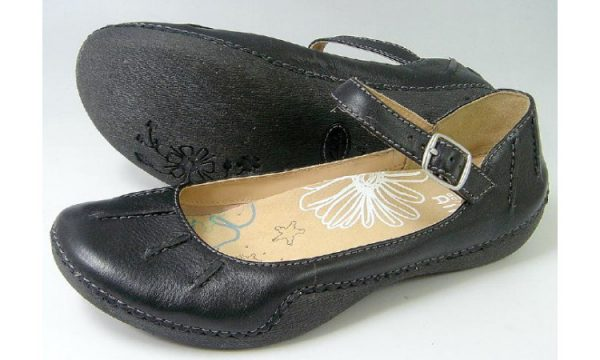 Clarks flats HIGH SPICE black leather