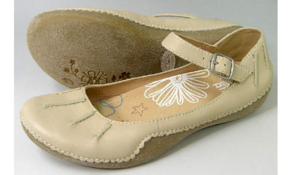 Clarks flats HIGH SPICE cotton beige leather