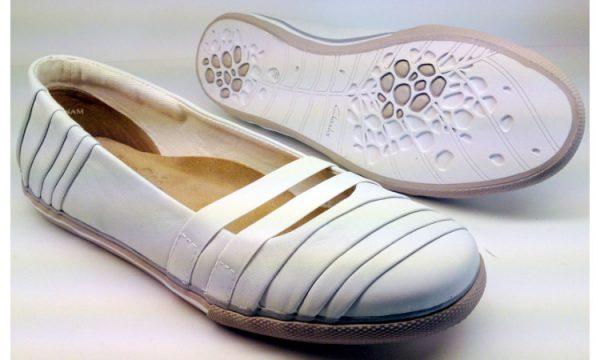 Clarks flat slip-on JETTY SPRAY white leather