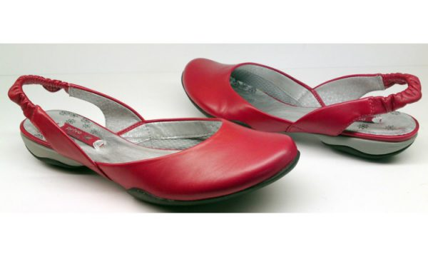 Clarks flat slip-on JOSIE TIME red leather