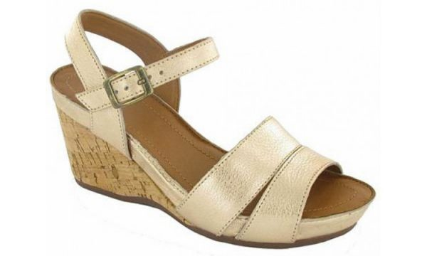 Clarks sleehakken sandaal OLLOW BELL gold metallic leather