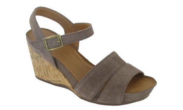 Clarks wedges sandal OLLOW BELL lavender suede