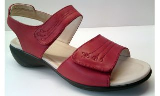 Clarks sandal OPEN HOUSE2 red leather EXTRA WIDE