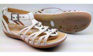 Clarks sandal PANCAKE MIX white leather