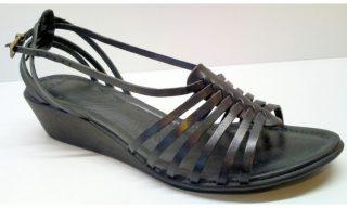 Clarks sandal PATCH QUILT black leather WEDGES